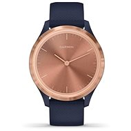 Garmin Vívomove 3S Sport, RoseGold Blau - Smartwatch