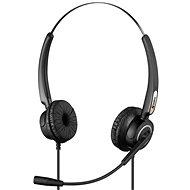 Sandberg USB Pro Stereo Headset mit Mikrofon - schwarz - Kopfhörer