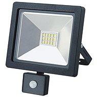 LED-Reflektor LED-Außenreflektor SLIM, 10W, 700lm, 3000K, mit Sensor, schwarz - Lampe