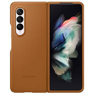 Handyhülle Samsung Leder Flip Case für Galaxy Z Fold3 hellbraun - Pouzdro na mobil