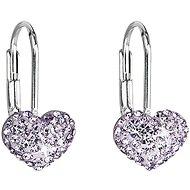 Violette Ohrringe verziert mit Swarovski-Kristallen 31125.3 (925/1000, 1.4 g) - Ohrringe