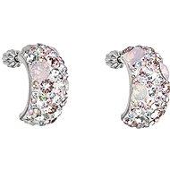 Magic rose Ohrringe mit Kristallen von Swarovski 31164.3 (925/1000, 4,1 g) - Ohrringe