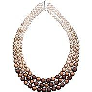 Braune Perlenkette 32009.3 (925/1000, 113.2g) - Halskette