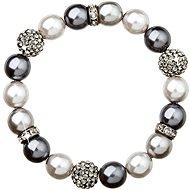 Graues Perlenarmband mit Swarovski-Kristallen 33060.3 - Armband