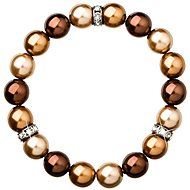 Braunes Perlenarmband - Armband