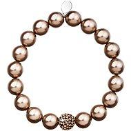 Bronze Perlenarmband mit Swarovski-Kristallen verziert 33074.3 - Armband