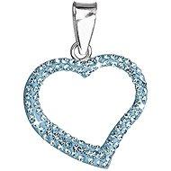Aqua přívěsek srdce dekorovaný krystaly Swarovski 34093.3 (925/1000; 0,7 g) - Anhänger