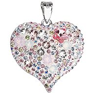Magic rose přívěsek srdce dekorovaný krystaly Swarovski 34181.3 (925/1000; 7,6 g) - Anhänger