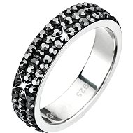 Prsten dekorovaný krystaly Swarovski Hematite 35001.5 - Ring