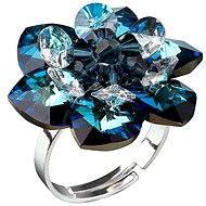 Prsten dekorovaný krystaly Swarovski Bermuda blue 35012.5 (925/1000; 6,6 g) vel. 53-60 - Ring