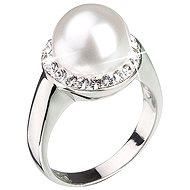 Ring mit Swarovski Kristallen weiße Perle 35021.1 (925/1000; 5.7g) Größe 58 - Ring