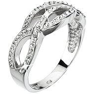 Prsten dekorovaný krystaly Swarovski Krystal 35039.1 (925/1000; 3,9 g) vel. 52 - Ring