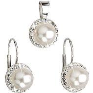 Bílá perla souprava dekorovaná krystaly Swarovski (925/1000; 4,1 g) - Trendy Geschenkset