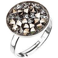 Metalic light gold Ring mit Swarovski® Kristallen verziert 35033.5 - Ring
