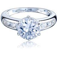 Prsten stříbrný, se zirkonem (925/1000, 3,6-3,9 g), bílá - Ring