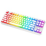 SPC Gear GK630K Onyx White Tournament Kailh Red - US - Gaming Keyboard - Gaming-Tastatur