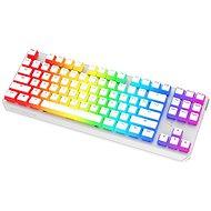 SPC Gear GK630K Onyx White Tournament Kailh Blue - US - Gaming Keyboard - Gaming-Tastatur