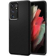 Handyhülle Spigen Liquid Air Black für Samsung Galaxy S21 Ultra - Kryt na mobil