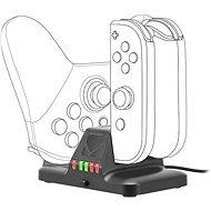 Speedlink QUAD Multi-Charger - für Nintendo Switch, schwarz - Ladestation