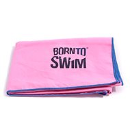 Born To Swim z mikrovlákna růžový - Handtuch
