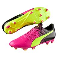 Puma Evo Power 3.3 FG pink glo-safet velikost 8 - Fussballschuhe