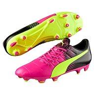 Puma Evo Power 3.3 FG pink glo-safet velikost 10 - Fussballschuhe