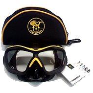 Poseidon 3D Black/Yellow - Tauchmaske