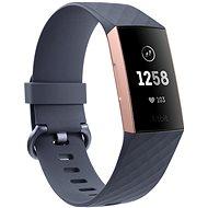 Fitbit Charge 3 Blau Grau / Rosa-Gold Aluminium - Fitness-Armband