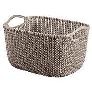 Curver Knit runder Korb 8L braun - Aufbewahrungsbox