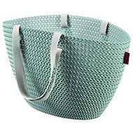 Einkaufstasche Currier Knit Emily blau-grau - Einkaufstasche