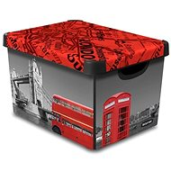 Aufbewahrungsbox Curver Decobox - L - London - Bank