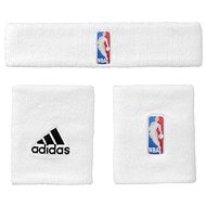 Adidas NBA Wristband plus Headband White Men - Set