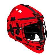 Unihoc maska Shield neon red/black - Helm