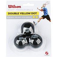 Wilson Staff Squash 3 Ball Double Yellow Dot - Squash-Ball