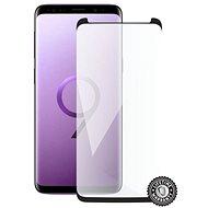 Bildschirmschutz SAMSUNG G960 Galaxy S9 Schutzglas (schwarz - CASE FRIENDLY) auf dem Bildschirm