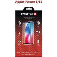 Swissten Case Friendly Schutzglas für iPhone 5 / 5S / SE schwarz