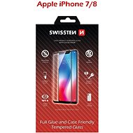 Swissten Case Friendly Schutzglas für iPhone 7/8 weiss - Schutzglas