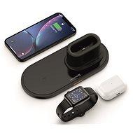 Swissten Wireless Ladegerät 3in1 - schwarz - Kabelloses Ladegerät