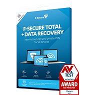 F-Secure TOTAL für 3 Geräte, 1 Jahr + DATA RECOVERY für 1 Gerät, 1 Jahr (Elektr. Lizenz) - Antivirus