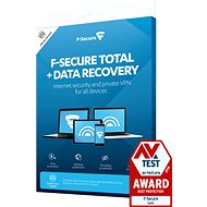 F-Secure TOTAL DR für 5 Geräte für 2 Jahre + Datenwiederherstellung für 1 Gerät für 2 Jahre (Electronic Li - Elektronische Lizenz