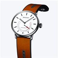 Sequent SuperCharger 2.1 Premium HR schneeweiß mit braunem Lederarmband - Smartwatch