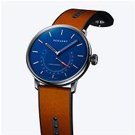 Sequent SuperCharger 2.1 Premium HR saphirblau mit braunem Lederarmband - Smartwatch