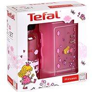 Tefal Set aus Glas und Flasche 0,4 l KIDS Pink-Princess - Dosen-Set