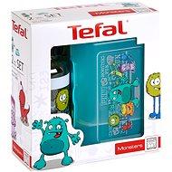 Tefal Set aus Glas und Flasche 0,4 l KIDS Türkis-Monster - Dosen-Set