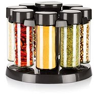 TESCOMA SEASON Drehständer für 8 Gewürze - anthrazit - Gewürzglas-Set