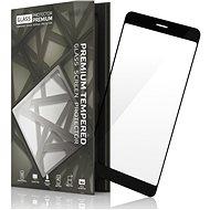 Gehärtetes Glas Schutzrahmen für Nokia 8 schwarz - Schutzglas