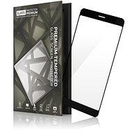 Tempered Glass Protector mit Rahmen für Huawei P Smart schwarz - Schutzglas