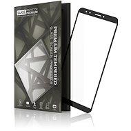 Gehärtetem Glas Schutzrahmen für Huawei Y7 Prime (2018) Schwarz - Schutzglas