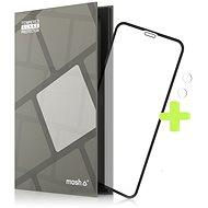 Tempered Glass Protector für iPhone Xr / 11, Schwarz + Kameraschutzglas - Schutzglas