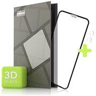 Tempered Glass Protector für iPhone 11 - 3D Case Friendly, Schwarz + Glas vor der Kamera - Schutzglas